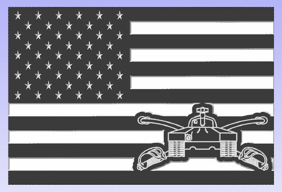 American Flag with Armored Division