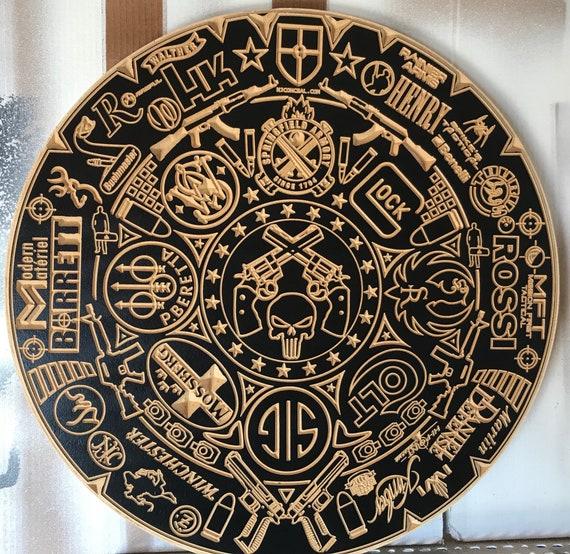 Firearm Aztec Calendar