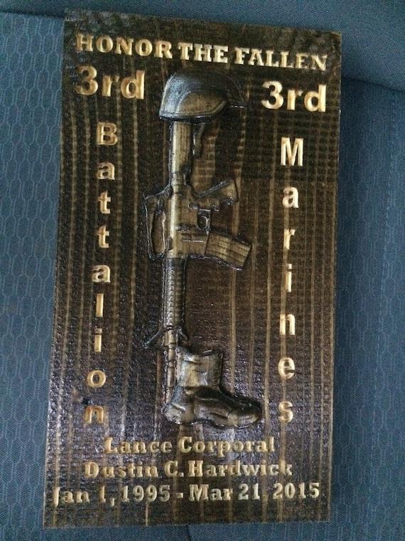 Fallen Soldier Memorial Plaque