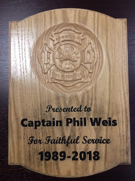 Fire Fighters Plaque