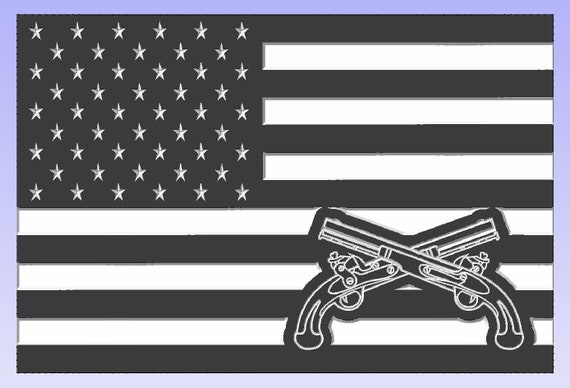 American Flag with Military Police