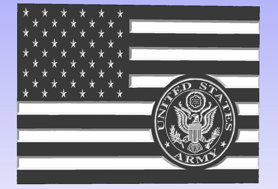 American Flag with US Army