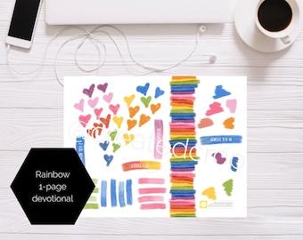 Rainbow 1-page Devotional