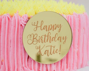 CUSTOM ceramic personalized 10 Your special day family name cake plate