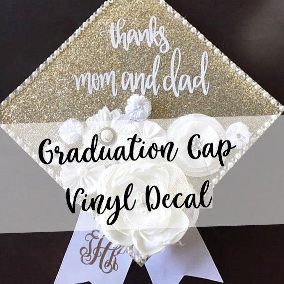 custom graduation cap decal customized graduation cap etsy