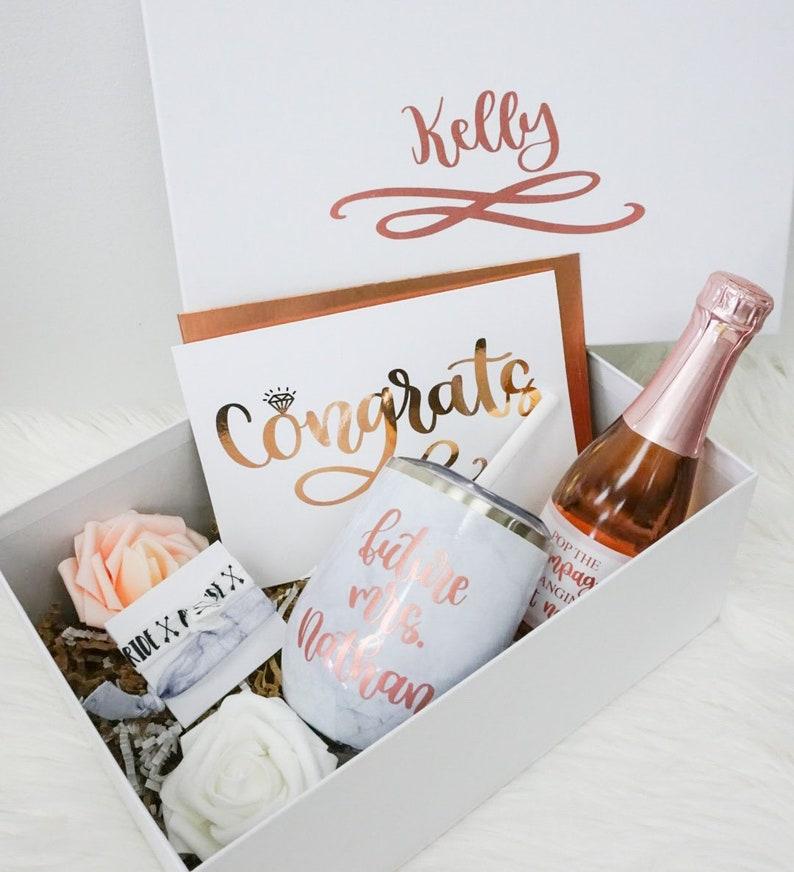 Engagement Gift Box Engaged Gift Set Engagement Gifts Congrats Engaged Gift Bride Gift Box Future Mrs Gift Engagement Box