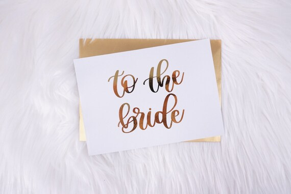To The Bride Card Gold Wedding Card Card For Wife Card For Etsy