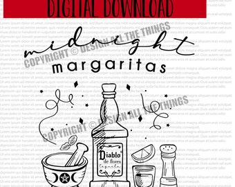 Practical Magic Shirt - Practical Magic SVG - Midnight Margaritas - Witch Shirts - Halloween - Full Coven - Digital Download