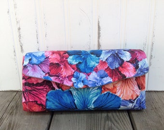 Watercolor Flower Wallet Clutch