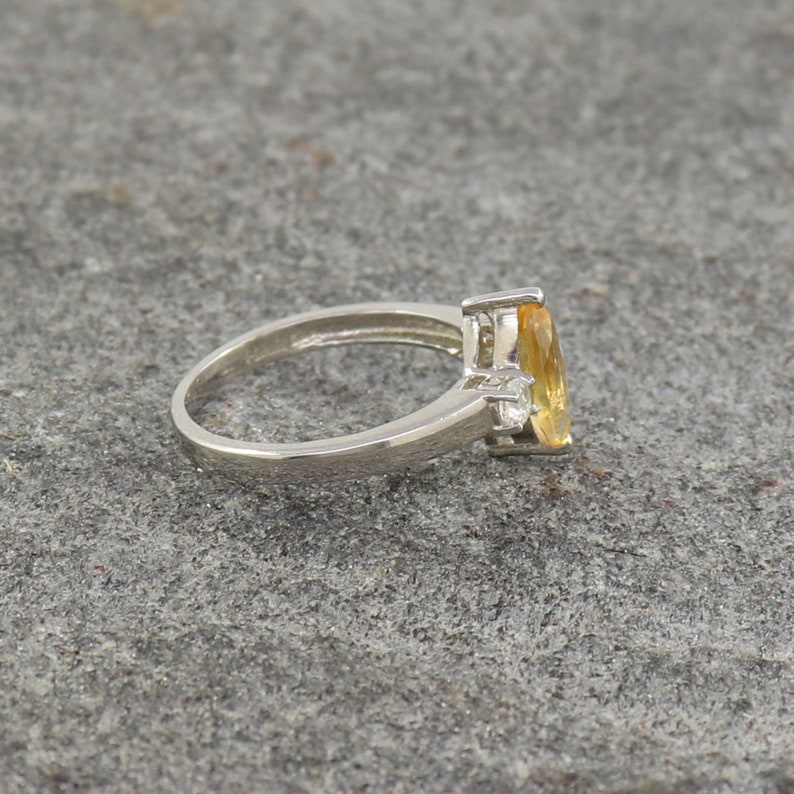 Natural Citrine Ring US 4 to 15 Birthstone Marquise Ring Engagement Women/'s Ring 925 Sterling Silver Ring Citrine Bridal Propose Ring