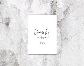 Thanks Sweetheart Card