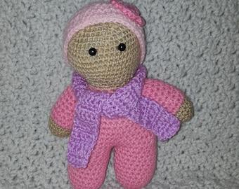 hand-made crochet plush toy doll
