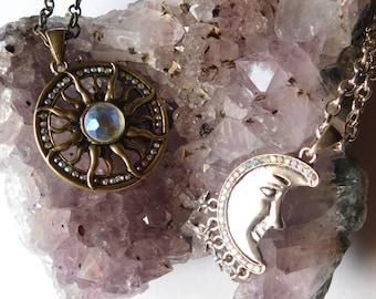 Sun&Moon Best Friend Necklace SET
