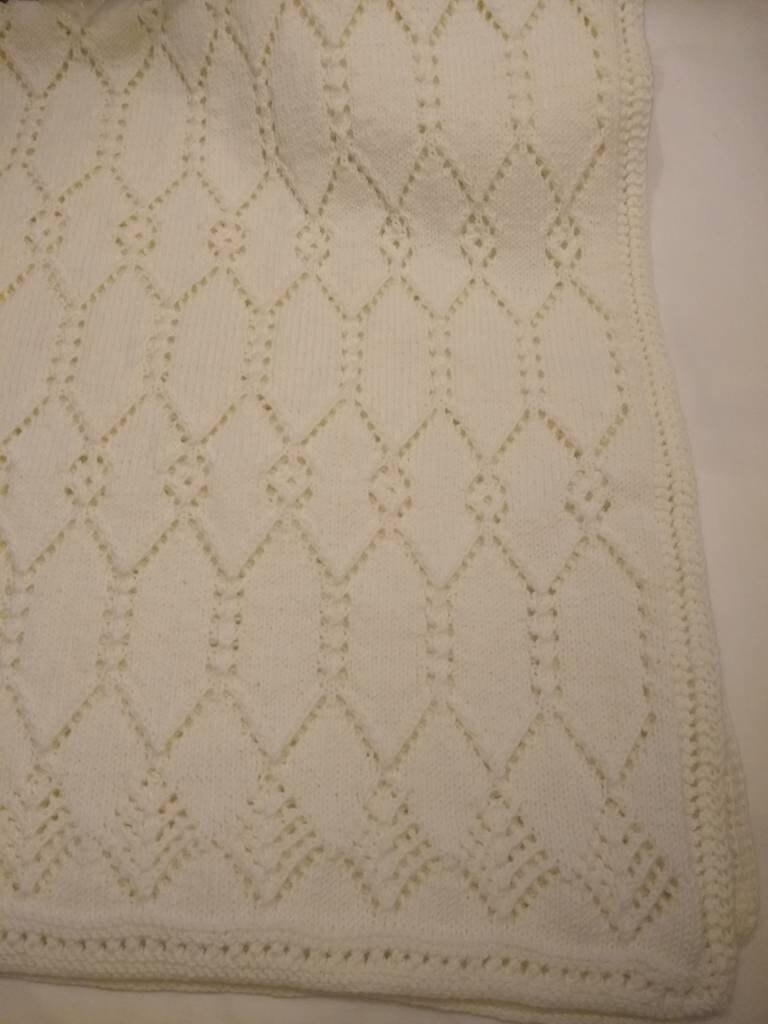 Couverture de bébé en tricot de main de Merino de luxe