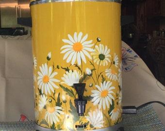 Sears Roebuck Vintage Coffee Maker Brewer Percolator Daisy Design Retro