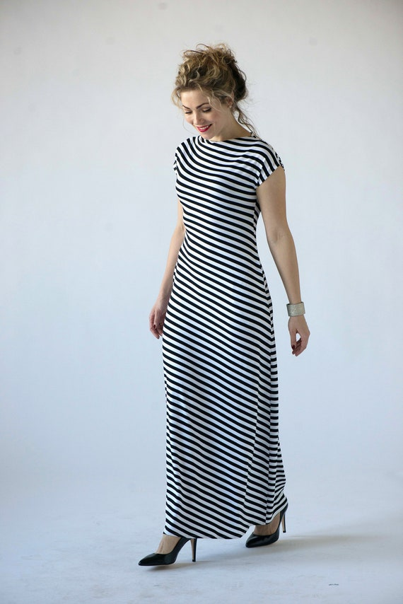 d790dba7be Striped maxi dress summer maxi dresses for women black white