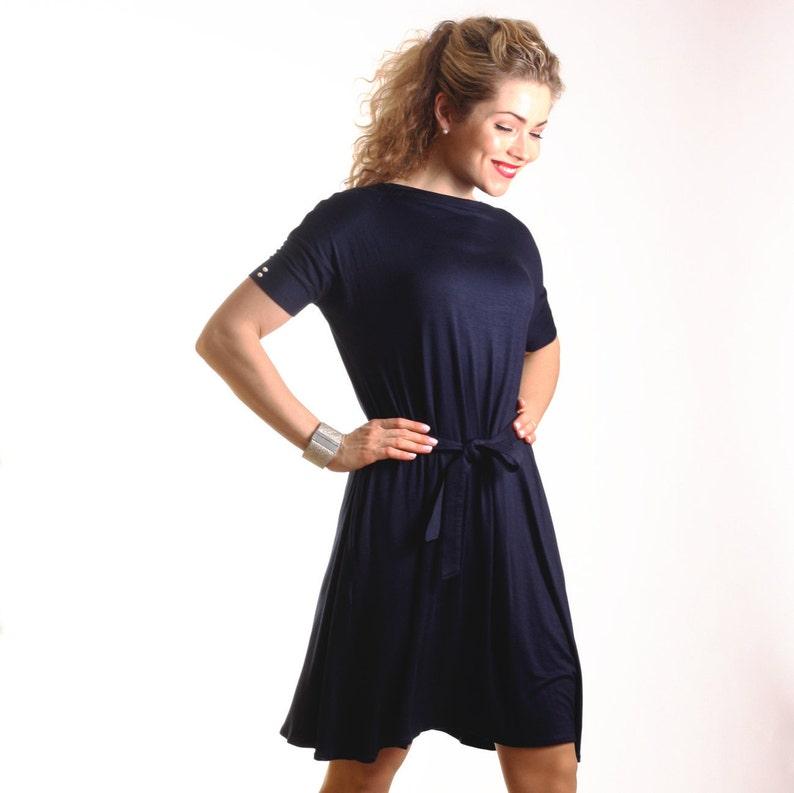 469796bcd39b Summer navy midi dress blue summer dress with pockets navy