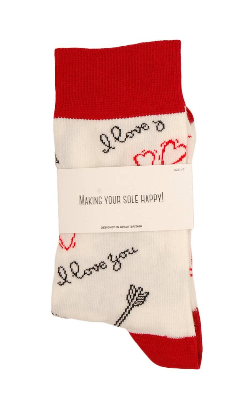 Men/'s and Ladies cotton rich /'I Love You Cherub/' socks