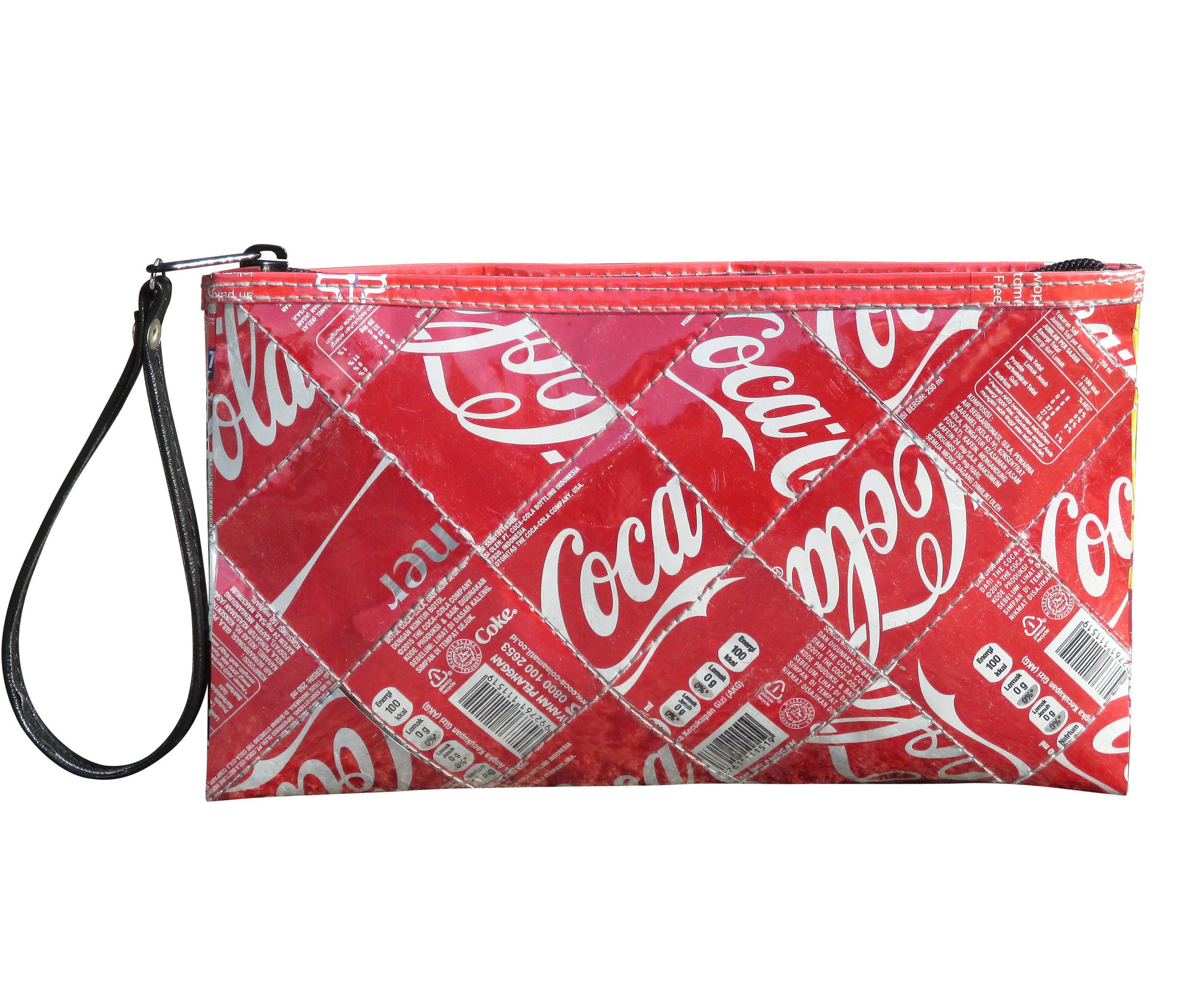 6f247c028e Large zip wristlet made from Coca Cola can FREE SHIPPING clutch wallet  zipper bag pouch reduce reuse recycled upcycle upcycled gift coke tin