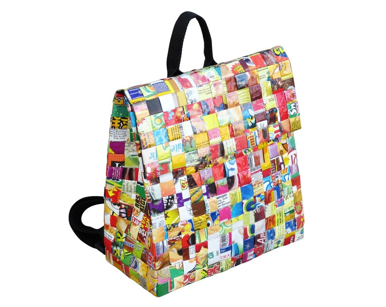 Candy wrappers backpack FREE SHIPPING made of sweet wrapper  11fa3d37b8ea4