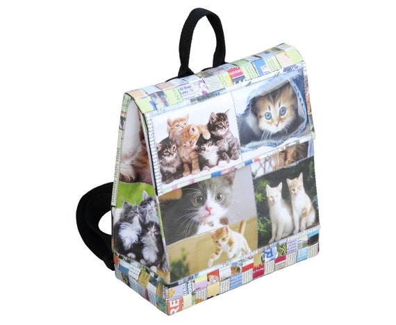 Backpack for cat lovers FREE SHIPPING made of magazine paper  9a6fcb4d63e4c