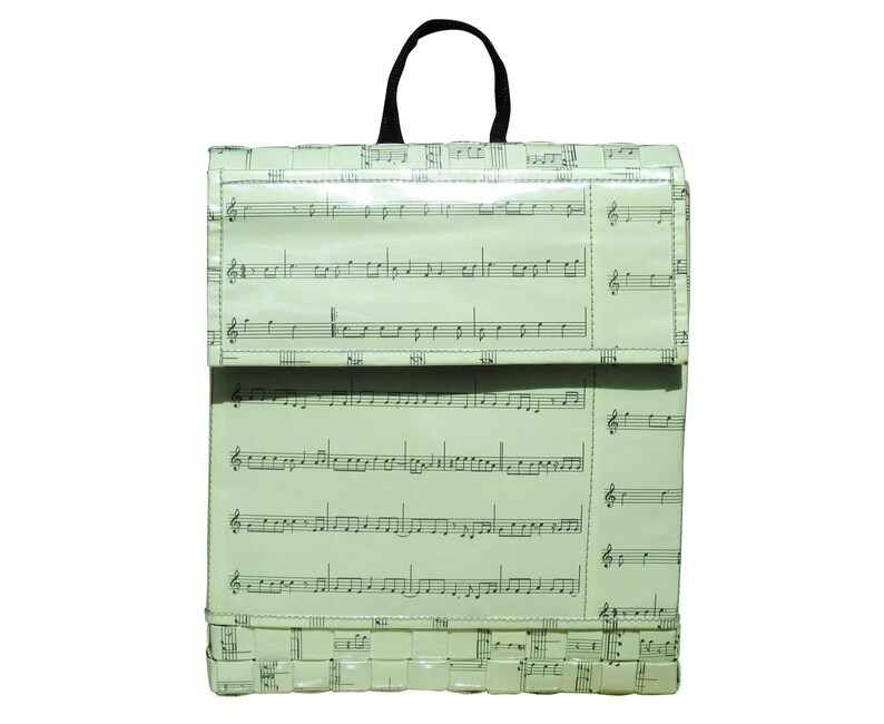 Backpack made from musical note sheet FREE SHIPPING gift for music lover women/'s backpacks upcycled back-pack musician piano violin student