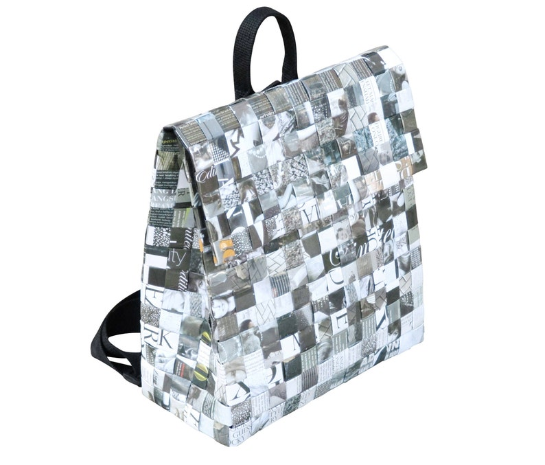 Backpack made from magazine paper FREE SHIPPING women s  08aa09b07a05d
