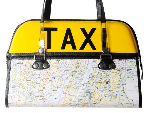 Nyc Subway Map Zippered Wallet.New York City Taxi Handbag Free Shipping Gift Idea For Nyc Lovers Lover Subway Map Street Manhattan Fifth Avenue Yellow Cab Female Driver