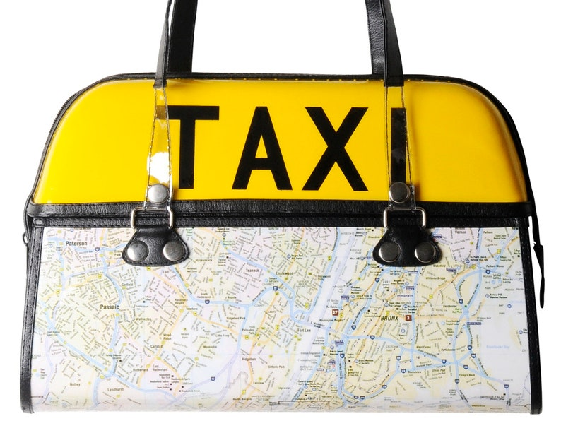 New York Subway Map Leather Taxi Wallet.New York City Taxi Handbag Free Shipping Gift Idea For Nyc Lovers Lover Subway Map Street Manhattan Fifth Avenue Yellow Cab Female Driver