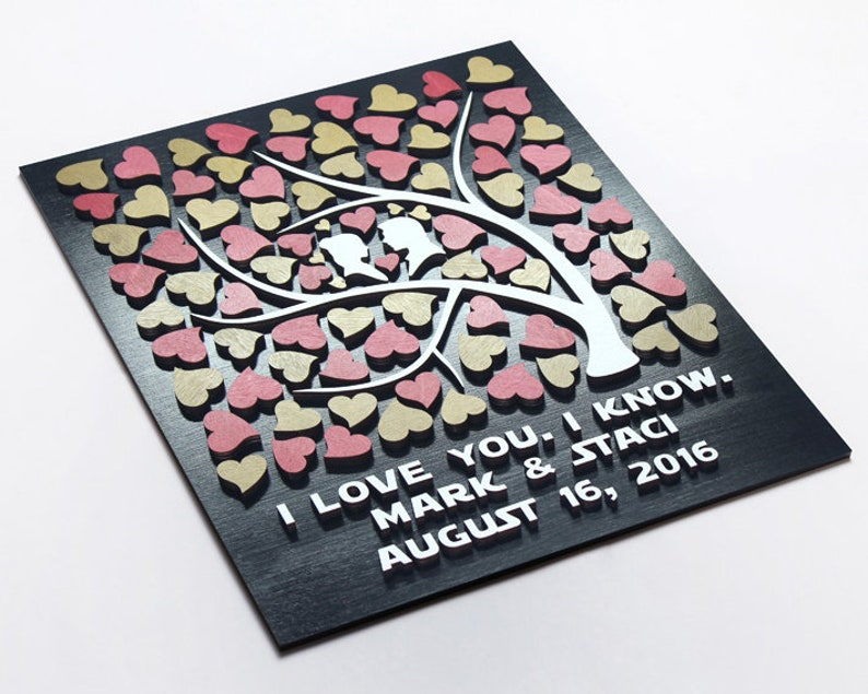 Star Wars Wedding Guest Book Alternative 3d Wood Guestbook Tree Star Wars Inspired Wedding Keepsake Custom Wedding Theme Sign In Guestbook