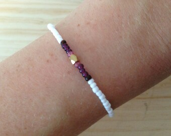 White, purple and pink bracelet