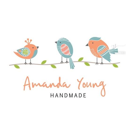Premade Logo aves lindo bebé ropa ducha a mano signos vivero | Etsy