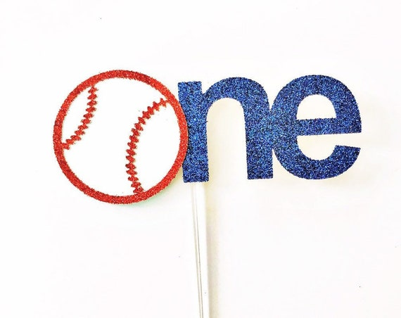 Baseball One Cake Topper / Baseball Smash Cake Topper / Boy First Birthday / Baseball Theme 1st Birthday / Number One Cake Topper / Baby Boy