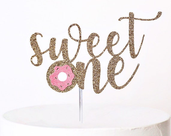 Sweet One Donut Cake Topper | Donut Grow Up Cake Topper | One is Sweet | Donut Theme 1st Birthday | Donut Cake | First Birthday | Smash Cake