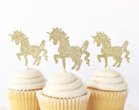 Unicorn Cupcake Toppers / Unicorn Decorations / Unicorn Birthday Party / Unicorn First Birthday / Girl Birthday / Always Be A Unicorn