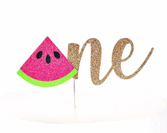 Watermelon One Cake Topper