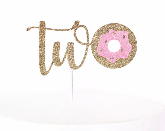 Donut Two Cake Topper