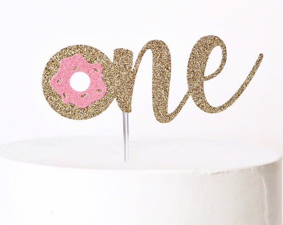 Donut One Cake Topper