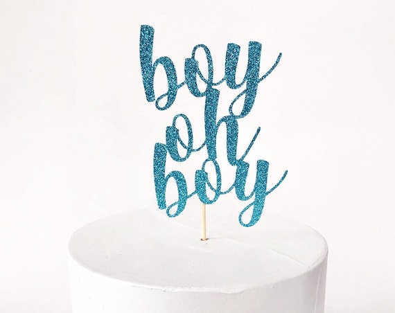 Boy Oh Boy Cake Topper / Boy Baby Shower / Baby Sprinkle / Oh Boy / It's A Boy / Twin Boys / Diaper Cake / Mommy To Be