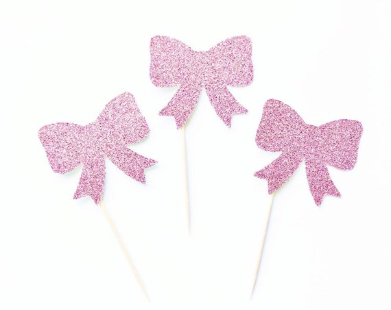 Bow Cupcake Toppers