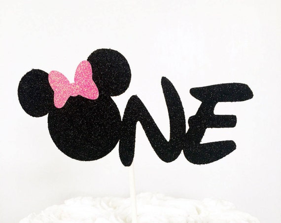 Minnie Mouse One Cake Topper / First Birthday Cake Topper / Minnie Mouse Theme / Smash Cake Topper / Girl First Birthday / 1st Birthday Cake
