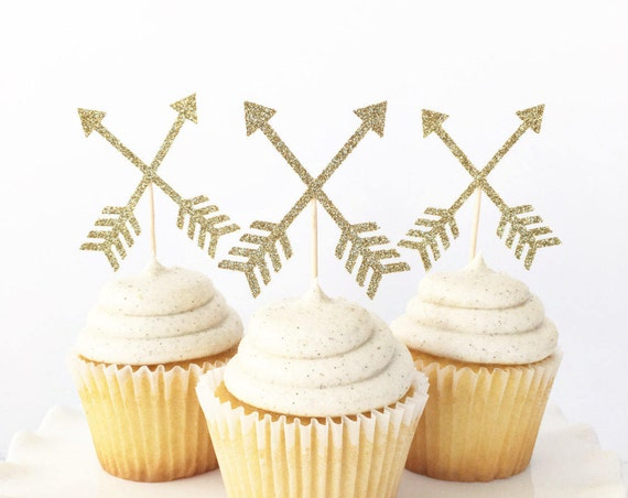 Arrow Cupcake Toppers / Wild One Cupcake Toppers / Wild One Theme First Birthday Party / Tribal Cupcake Toppers / Young Wild and Three