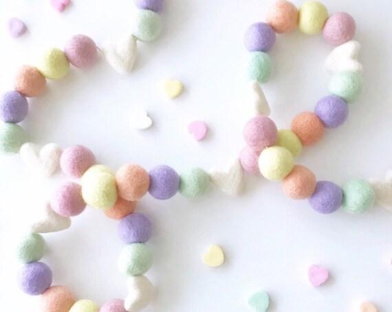Valentine's Day Garland | Conversation Hearts Garland | Candy Hearts Garland | Valentine's Day Decorations | Valentine Banner | Heart Banner