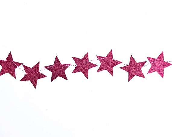 Star Banner | Star Garland | Glitter Cardstock Star Banner | Star Decorations | Fall Banner | Fall Home Decor
