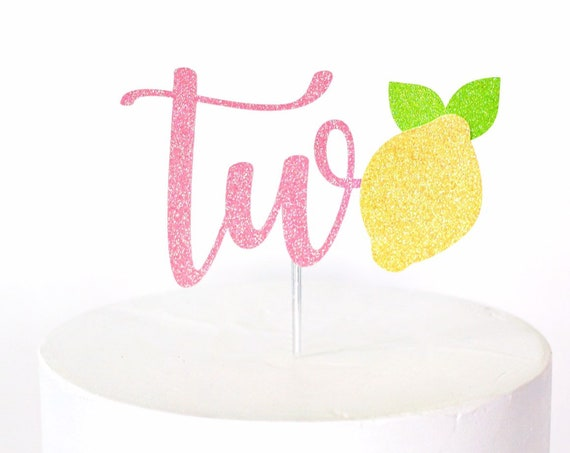 Lemon Two Cake Topper