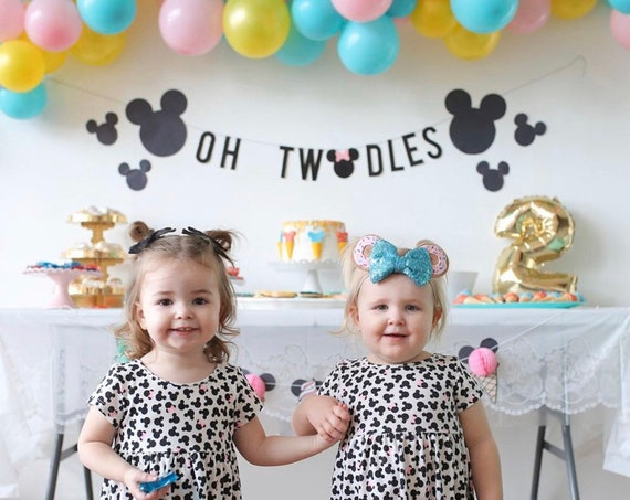 Oh TWOdles Minnie Mouse Banner | Minnie Mouse 2nd Birthday | Birthday Banner | TWOdles Birthday Decorations | Minnie Mouse Birthday Party