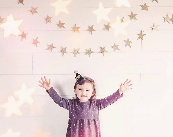 Whimsical Star Garland / Double Sided Star Garland / Star Banner / Birthday Garland / Baby Shower Banner / Playroom Decorations / Twinkle