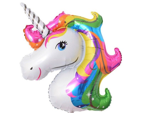 Unicorn Balloon / Unicorn Party Decor / Rainbow Unicorn Balloon / Unicorn Foil Balloon / Unicorn Decorations / Magical Party Decor