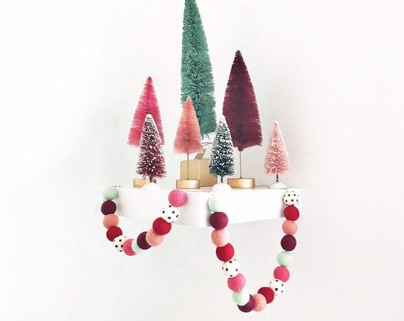Christmas Felt Ball Garland | Christmas Pom Pom Garland | Woolie Ball Garland | Christmas Banner | Christmas Decorations | Holiday Decor