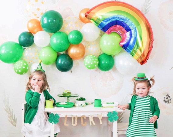 Foil Rainbow Balloon | Rainbow Decorations | St Patrick's Day Balloon | Rainbow Mylar Balloon / Rainbow Party Decor / St Patty's Decor